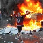 Canuck fans riot