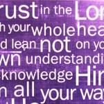 trust the Lord-purple