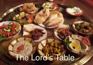 the Lord prepares a table