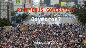 Venezuelan protestors