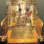 Cairo Museum - King Tut's throne